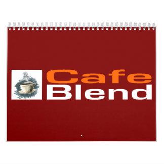 Calendario de la mezcla del café