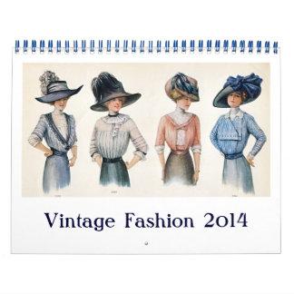 Calendario de la moda 2014 del vintage