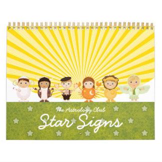 Calendario de la muestra de la estrella