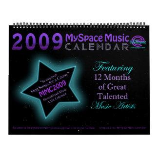 CALENDARIO de la MÚSICA del MMC 2009 MYSPACE -