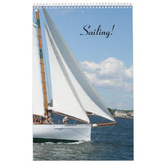 ¡Calendario de la navegación!  2013 Calendario De Pared