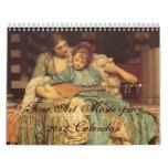 Calendario de la obra maestra 2012 de la bella