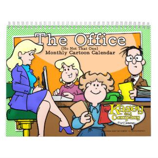 Calendario de la oficina del dibujo animado