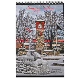 Calendario de la página del valle uno de Saucon