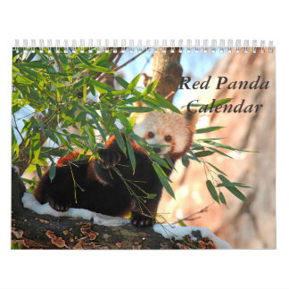 Calendario de la panda roja