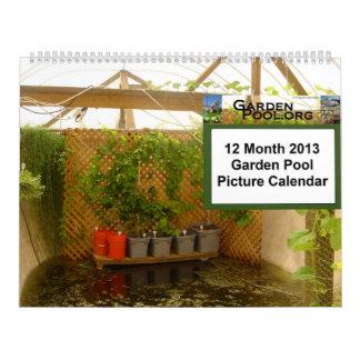 Calendario de la piscina de 2013 jardines - grande