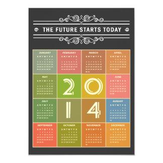 Calendario de la pizarra 2014 - el futuro comienza