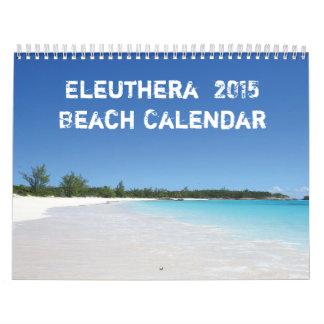 Calendario de la playa de Eleuthera 2015