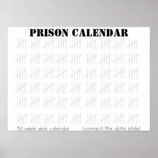Calendario de la prisión impresiones