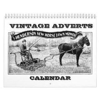 Calendario de la publicidad del vintage