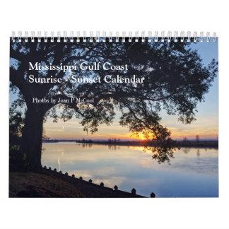 Calendario de la puesta del sol de la salida del