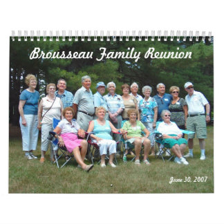 Calendario de la reunión de familia de Brousseau