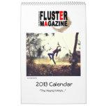 Calendario de la revista 2013 de la agitación