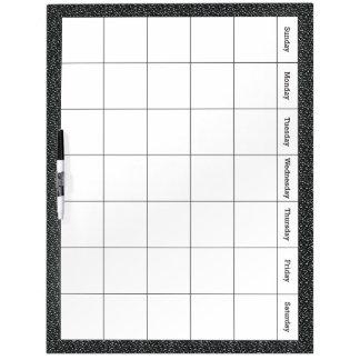 Calendario de la sala de clase tablero blanco