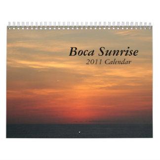 Calendario de la salida del sol 2011 de Boca