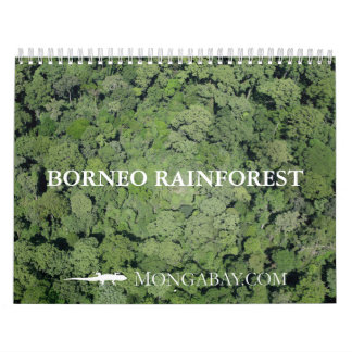 Calendario de la selva tropical de Borneo