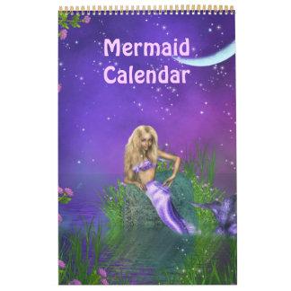 Calendario de la sirena de la fantasía