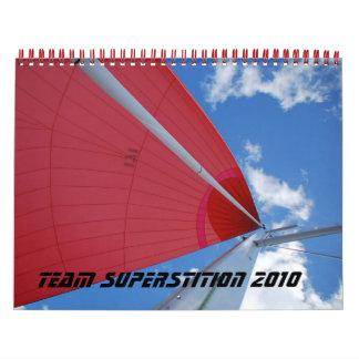 Calendario de la superstición 2010 del equipo