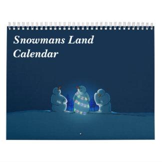Calendario de la tierra de Snowmans