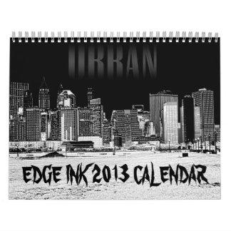 Calendario de la tinta 2013 del borde