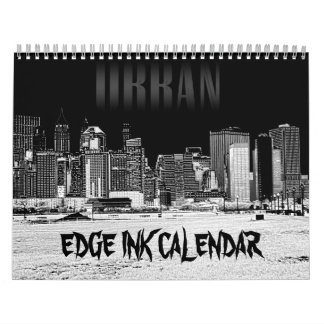 Calendario de la tinta del borde