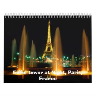 Calendario de la torre Eiffel