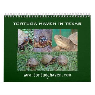 Calendario de la tortuga de caja de Tejas