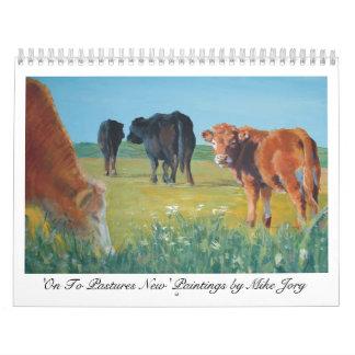 Calendario de la vaca 'encendido a los pastos New