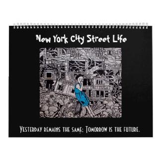 Calendario de la vida en las calles de NYC