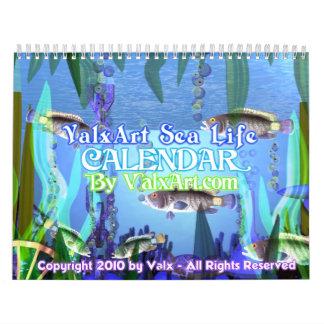 Calendario de la vida marina de Valxart
