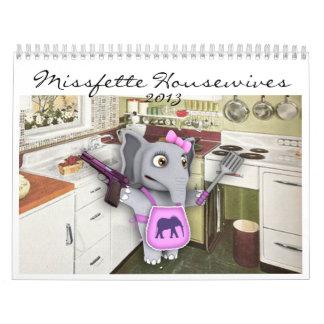 Calendario de las amas de casa 2013 de Missfette
