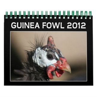 Calendario de las aves de Guinea para 2012