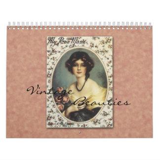 Calendario de las bellezas 2013 del vintage