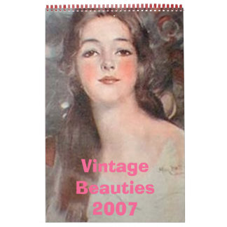 Calendario de las bellezas del vintage