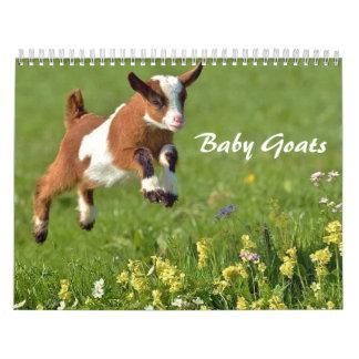 Calendario de las cabras del bebé