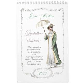 Calendario de las citas 2013 de Jane Austen