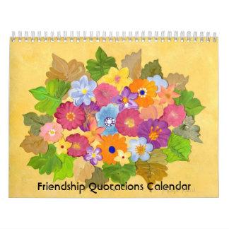 Calendario de las citas de la amistad