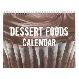 Calendario de las comidas del postre