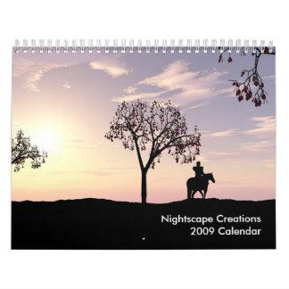 Calendario de las creaciones 2009 de Nightscape