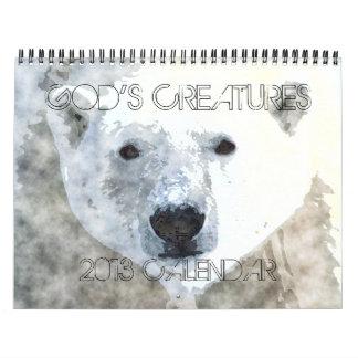 Calendario de las CRIATURAS 2013 de DIOS