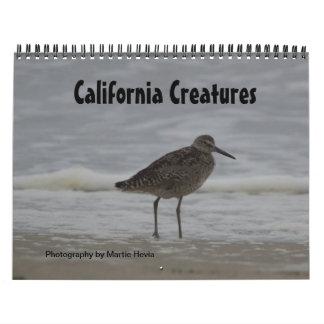 Calendario de las criaturas de California