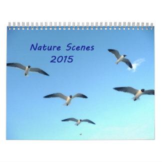 Calendario de las escenas 2015 de la naturaleza