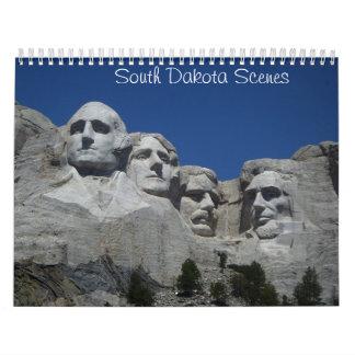 Calendario de las escenas de Dakota del Sur