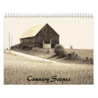 Calendario de las escenas del país