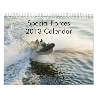 Calendario de las fuerzas especiales 2013