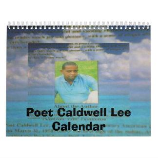 calendario de las heces del caldwell del poeta