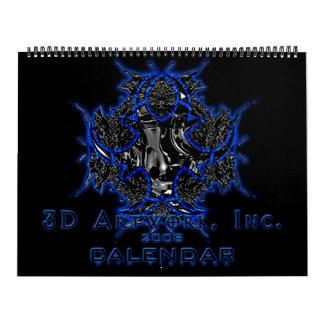 calendario de las ilustraciones 2008 3D