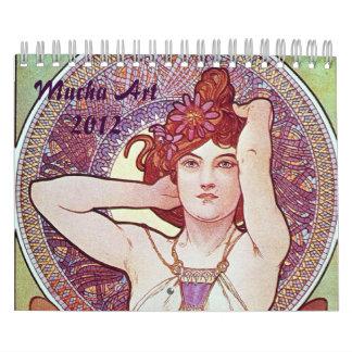 Calendario de las ilustraciones de Alfonso Mucha