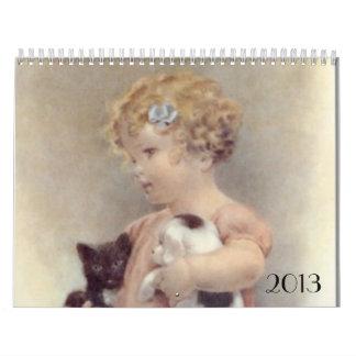Calendario de las impresiones del niño y del bebé