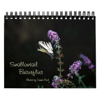 Calendario de las mariposas de Swallowtail
